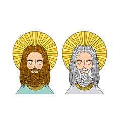 Jesus christ man icon vector
