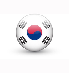 Round icon with national flag of south korea vector