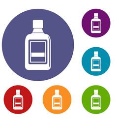 Plastic bottle icons set vector