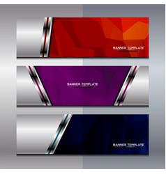Banner polygon background design vector