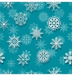 Seamless white snowflakes vector