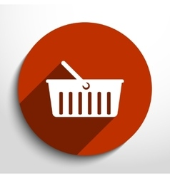 Shopping cart web flat icon vector
