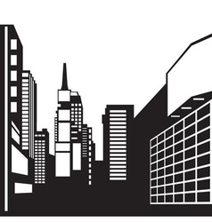 New york black and white image vector