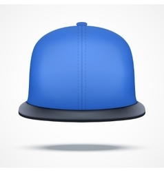 Layout of blue rap cap vector