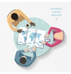 Business travel meeting concept vector