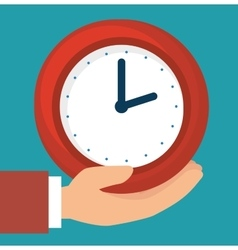 Time clock graphic vector