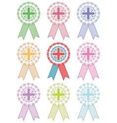 Uk rosettes vector
