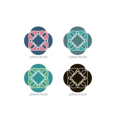 Mandalas or geometrical logos vector