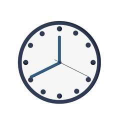 Clock time hour icon vector