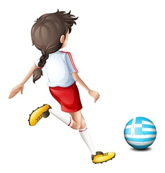 A female football player from greece vector