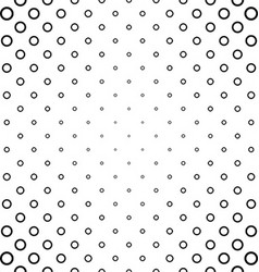 Abstract black and white ring pattern design vector
