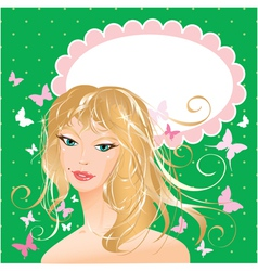 Blondy girl portrait vector
