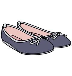 Blue ballet flats vector image
