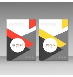 Brochure magazine cover design poster vector