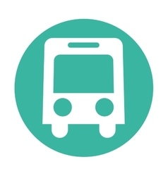 bus service public isolated vector image