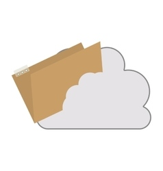 Cloud with document folder icon vector