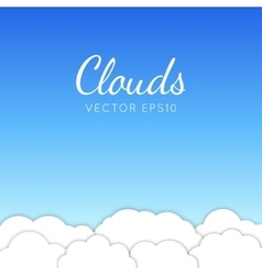 Cloudscape vector image vector image