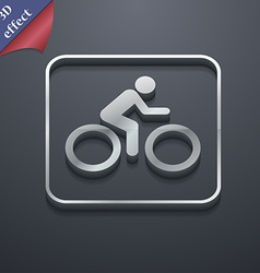 Cyclist icon symbol 3d style trendy modern design vector