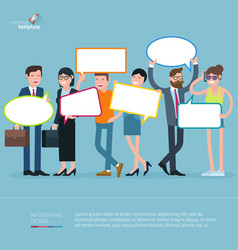 diverse people opinion template vector image
