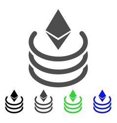 Ethereum portal icon vector