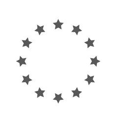 european union icon simple vector image