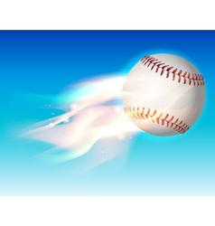 fire baseball sky vector image