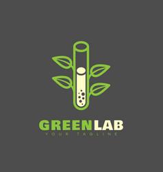 green lab logo vector image vector image