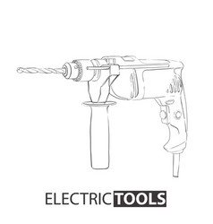 hand drawn drill vector image