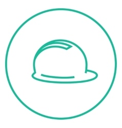 Hard hat line icon vector image