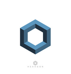 hexagon symbol vector image vector image
