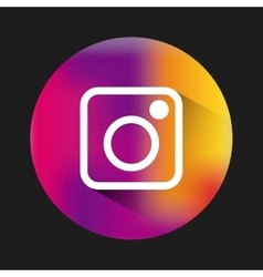 Instagram classic emblem icon vector