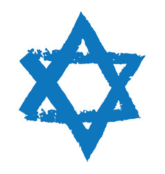 judaic symbol of magen david or david star vector image