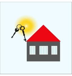 Keys of the house vector