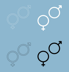 Man and woman symbol the black and white color vector