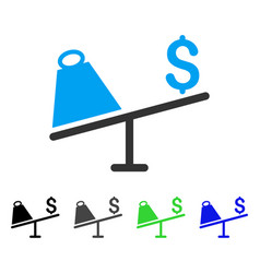 Market price swing flat icon vector