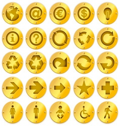 metal logo icons vector image