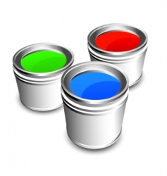 paint buckets vector image vector image