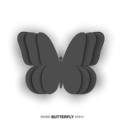 Paper butterfly design vector image