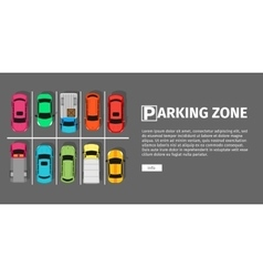Parking Zone Top View vector image vector image