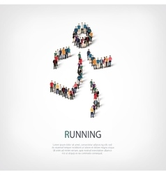 people sports running vector image