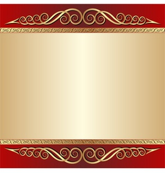Red and gold background vector