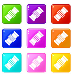 Repair detail icons 9 set vector