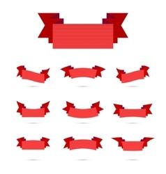 Ribbon Simple Style Retro Art Set vector image vector image