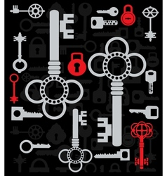 Silhouettes of keys vector image