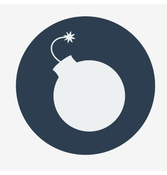 Simple bomb icon Flat style vector image