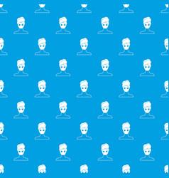 spa facial clay mask pattern seamless blue vector image vector image