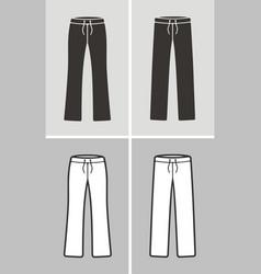 Sport pants vector