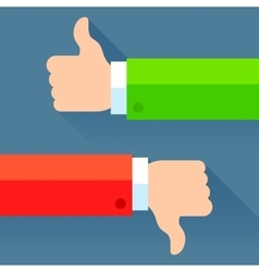 Thumb Up and Down Concept vector image vector image