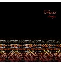 Tribal ornamental design vector image