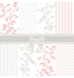 Vintage set with floral ornaments vector image vector image